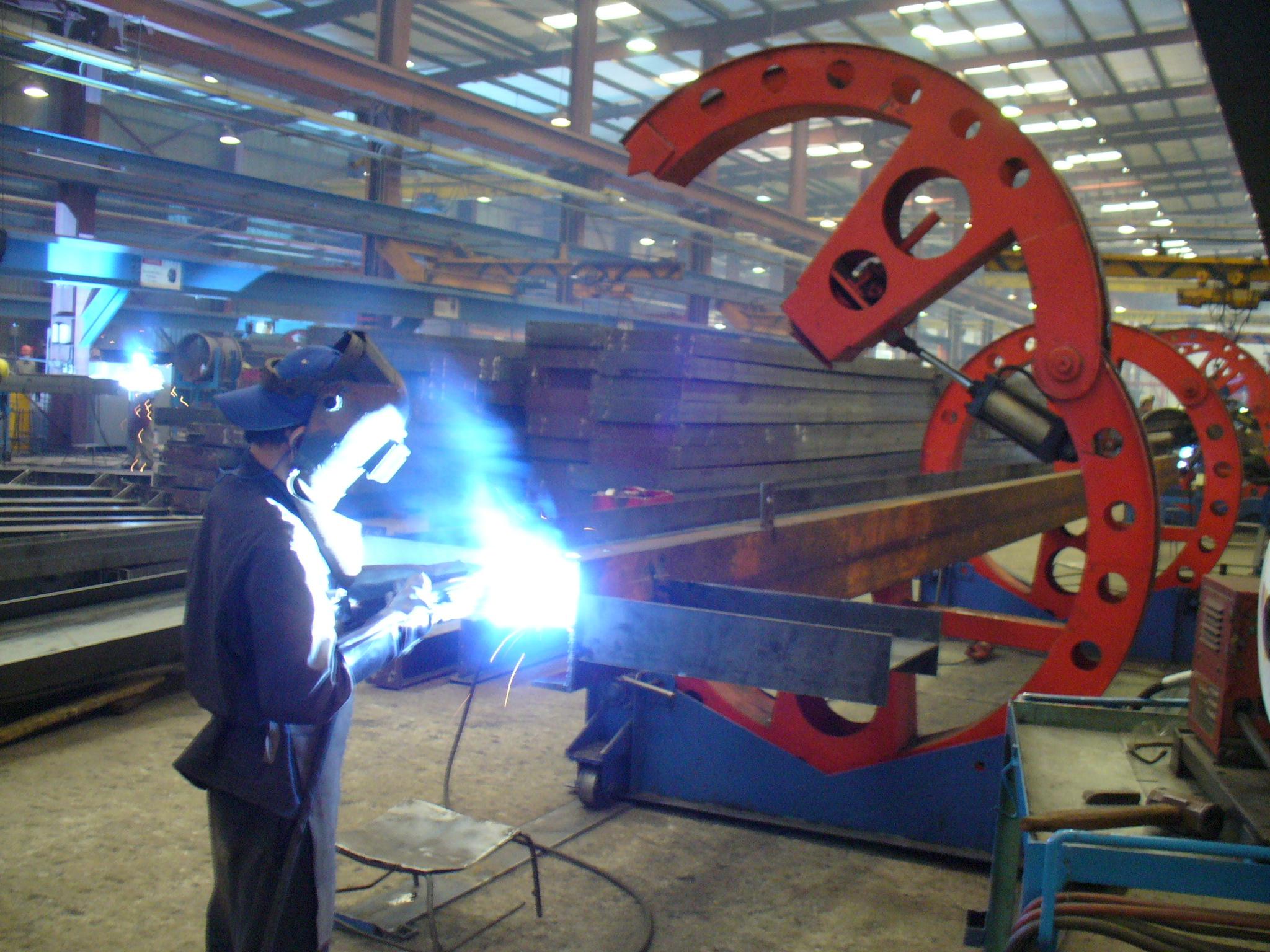 Industries Open Development Mekong Cut Engineer Iron Safety Boots Blue Leather A Welder In Vietnamese Factory Under The Ilos Improvement Programme Photo By International