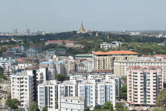 Some of the Japanese financing will go toward infrastructure improvements in Yangon, Myanmar's most populous city. (Photo by Keiichiro Asahara)