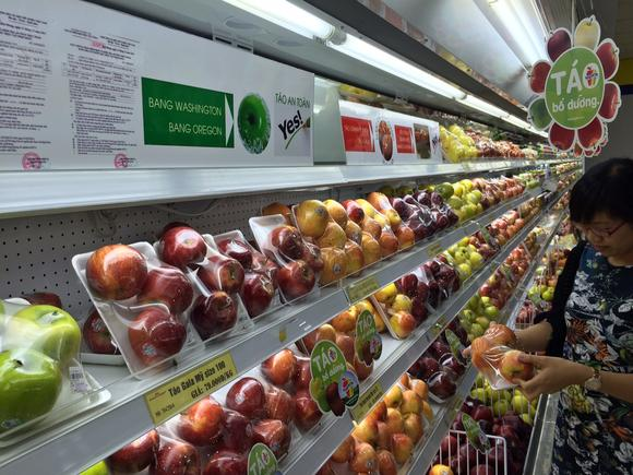 Vietnamese supermarkets, like this one in Hanoi, are beginning to indicate origins of imported foods.
