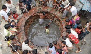 Fifteen to twenty million wells extract water from the Indo-Gangetic basin every year. Photograph: Rajesh Kumar Singh/AP