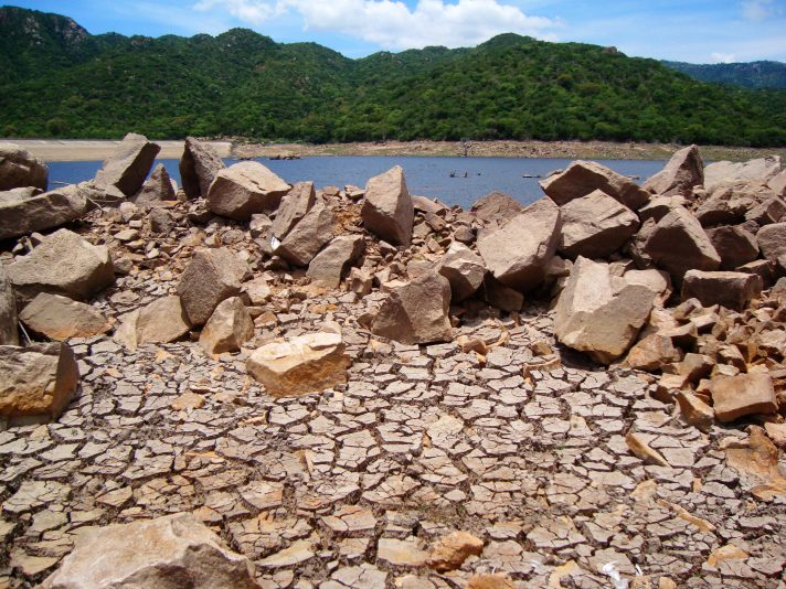 Parched earth in Núi Chúa National Park, Ninh Thuan, Vietnam. Photo by  Gavin White via Flickr. Licensed under CC BY-NC-ND 2.0.