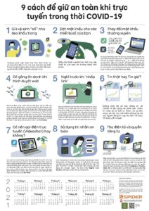 9 Tips to Stay Safe Online in the Age of COVID-19 (Vietnamese)